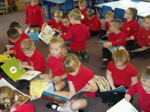 Y1 Working Hard