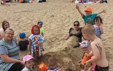 Nursery and Reception's day at the seaside