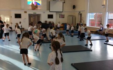Year One's PE lesson