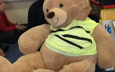 A visit from Norman the bear