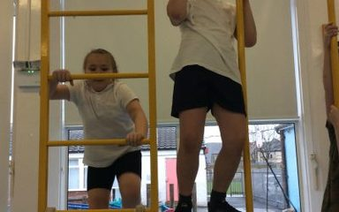 PE Lesson in Year 4