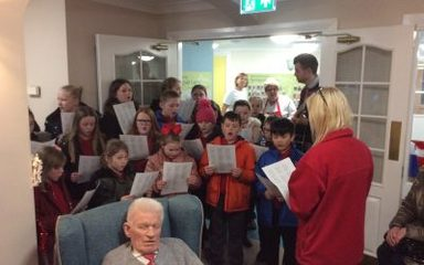 Singing at Springvale Court