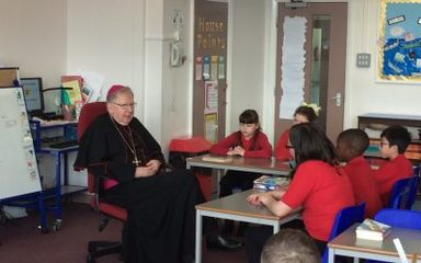Bishop Seamus' visit to Year 5