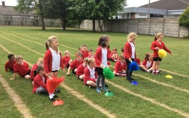 Practising for Sports Day