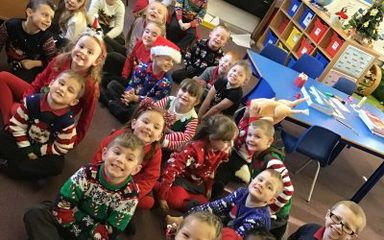 Christmas jumper day in Year 1