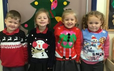 Christmas Jumper Day in Nursery