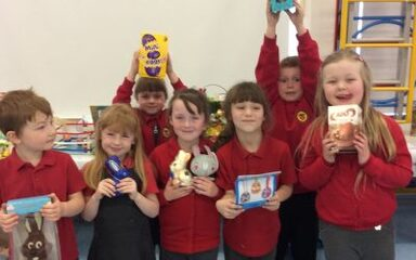 Easter egg competition and raffle