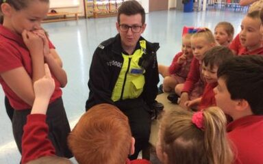 Community Police Officer Visit